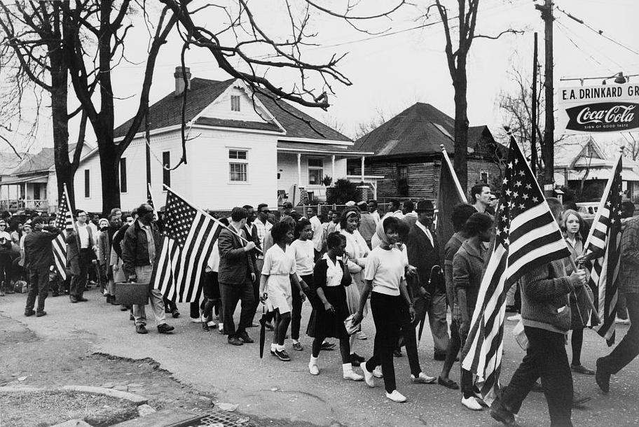 """Participants in the Selma to Montgomery March, 1965,"" by Peter Pettus."