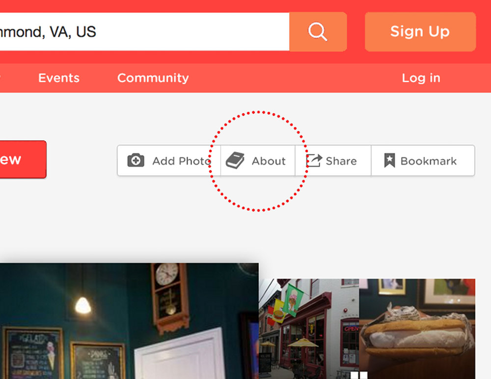 "On every small business page, there would now be a new ""About"" feature where businesses can upload their stories."