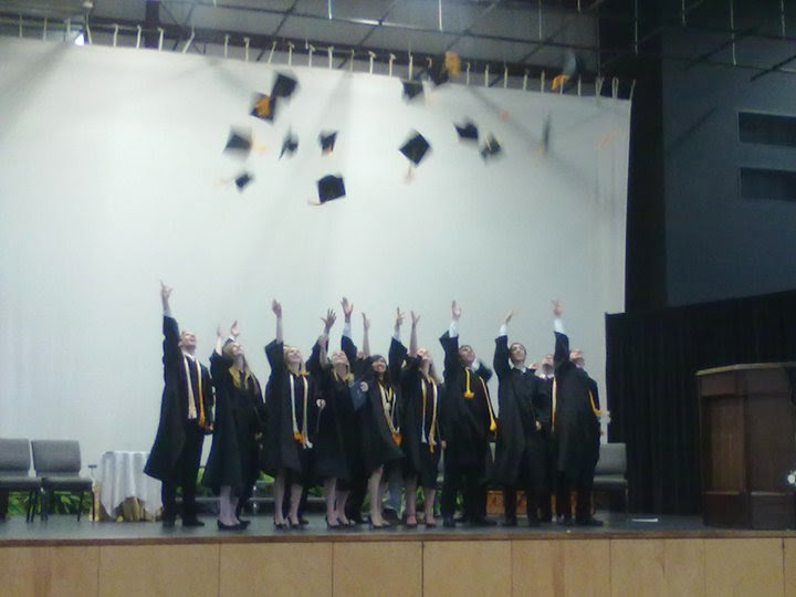 This is my graduating class. I'm third from left.