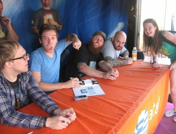 Meeting the Ataris at my first Warped Tour in 2009 in Noblesville, IN.