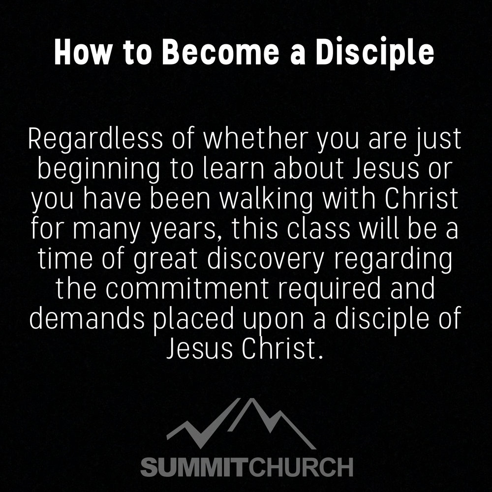 Whether you are just figuring out what Christianity is or have been walking with Christ for many years, this will be a time of discovery and renewal in your understanding and commitment to what is at the heart of being a disciple, Jesus Christ.