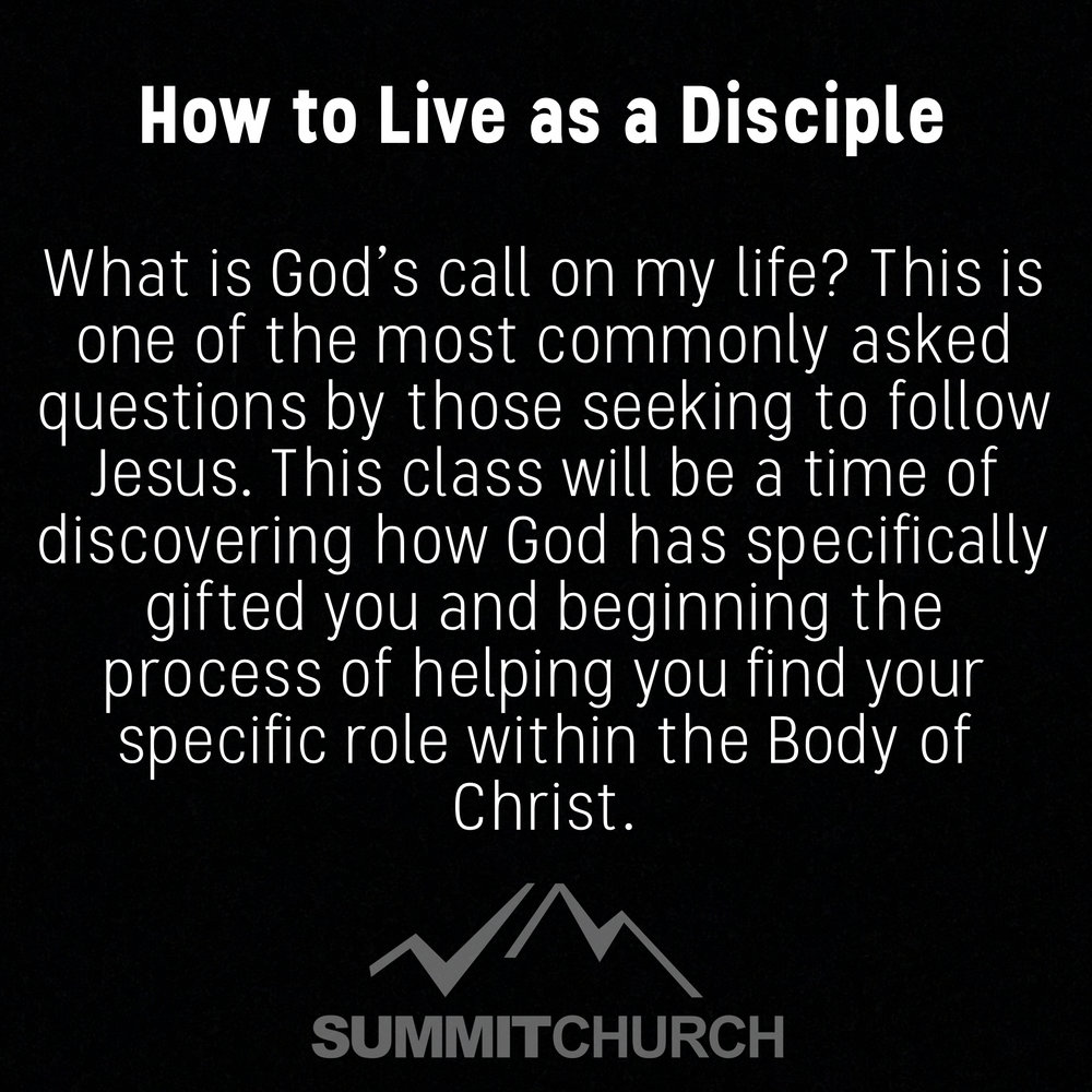 What is God's call on my life? This is one of the most often asked questions by Christians. This will be a time of discovering how God has specifically gifted you and beginning the process of helping you find your specific place and role in the Body of Christ.
