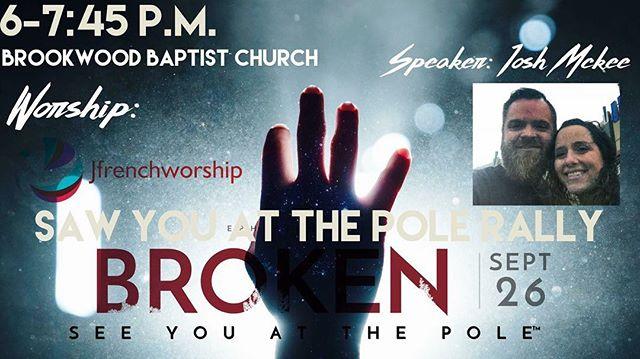 SYATP rally tomorrow! Meet at the church at 5:30 and we'll ride together!