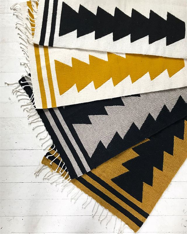 Say hello to 'Maiz' our latest collection of rugs! New designs, new colors, same hand crafted quality straight from Oaxaca.