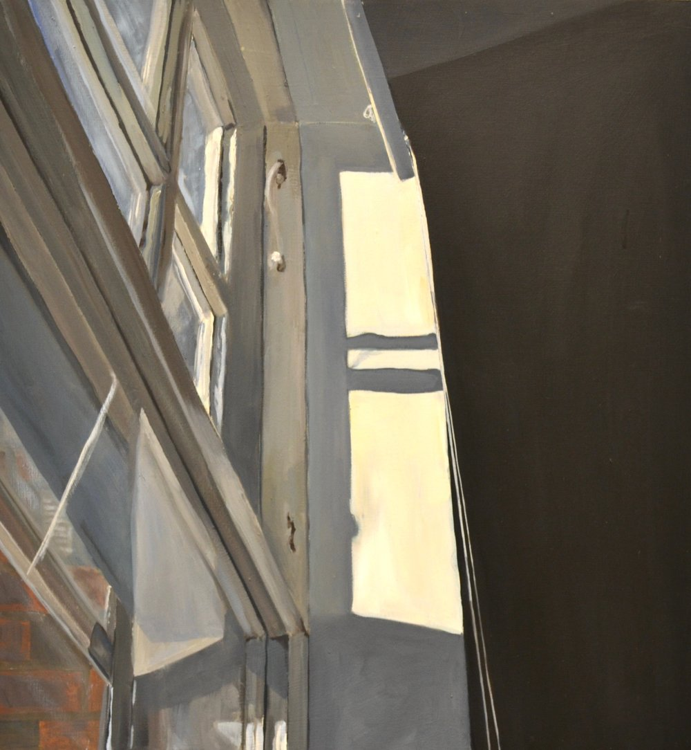 "Window, oil on panel, 18""x19.5"" 2017"