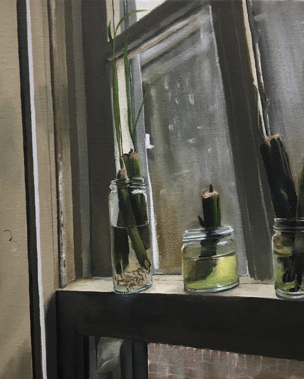 """Lemongrass, oil on linen, 9"""" x 11"""""""