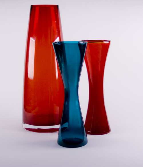 Turquoise Hour Glass Vase Cup Cloth