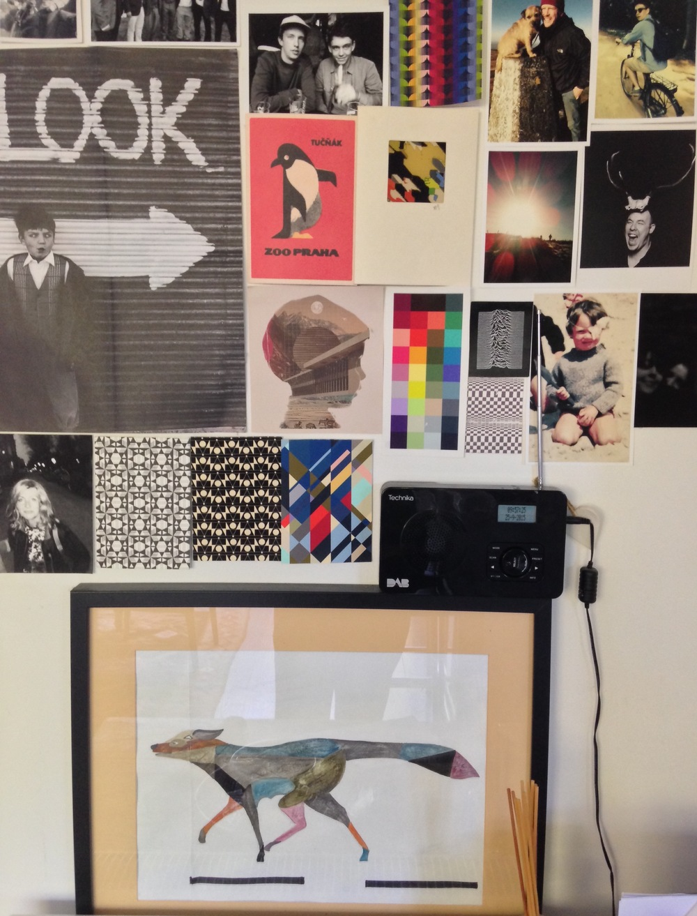 Creative mood boards in the Cup + Cloth headquarters.