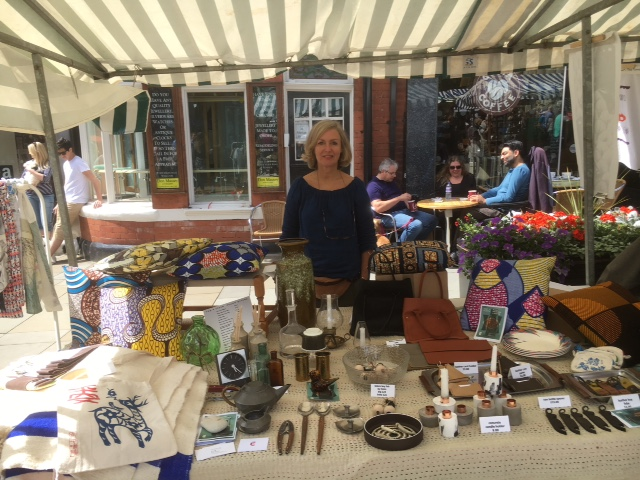 Cup + Cloth stall at Treacle market Macclesfield., Sunday 31st July 2016.