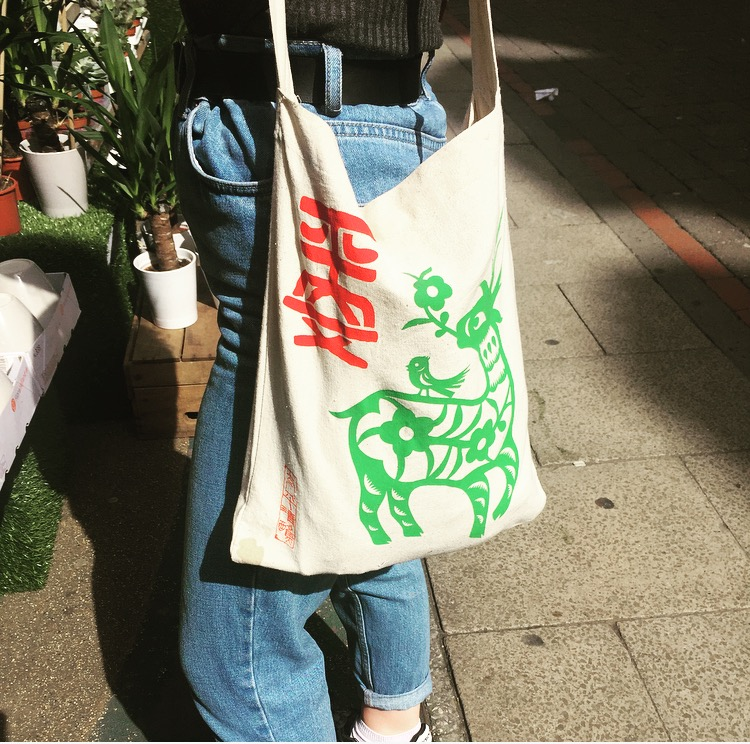 Glad to see our cute canvas totes are fit for purpose whilst looking super stylish. Thanks to Emma for sending in this photo.