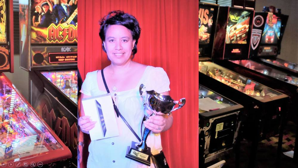 Naiomi Goodwin - Highest placing female player at the recent 2016 Pinball HQ Marathon