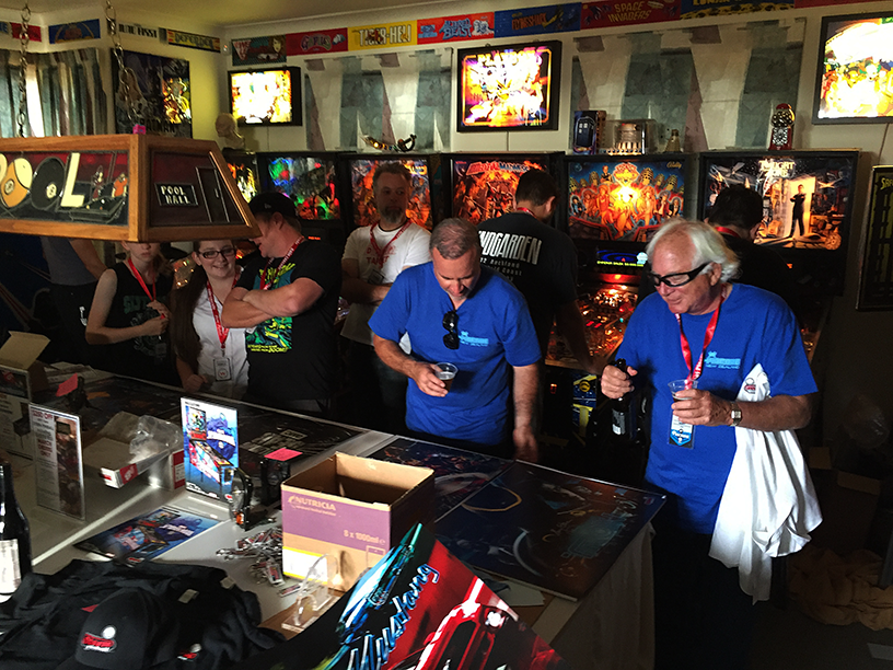 Gary Stern, brandishing a few drinks, and mulling over the abundance of door prizes at one venue in Pincade 9.