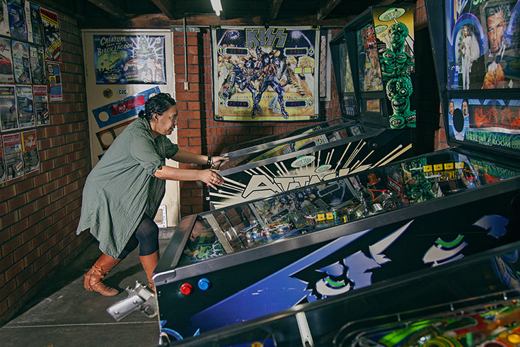 Naiomi Goodwin - current number 1 Australian women's pinball player.