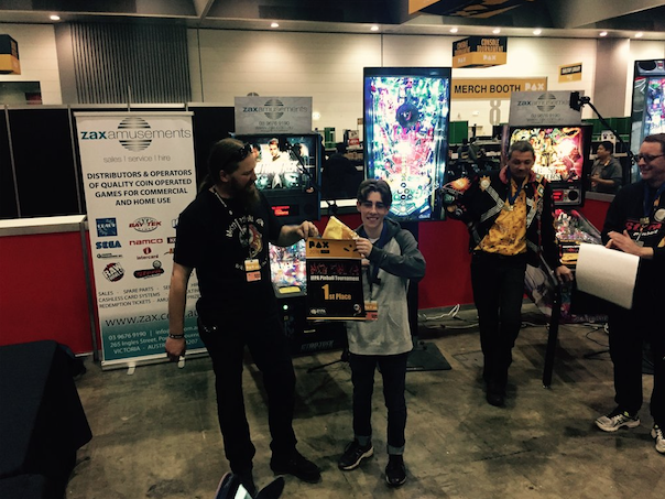 Jordan Tredaway - Here taking 1st place at the 2016 PAX Australia Pinball Championship.