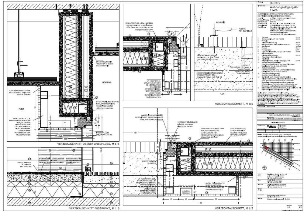 Tür detail  LIGNE ARCHITEKTEN — Skyliving Elbphilharmonie