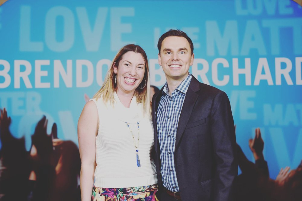 With my mentor, Brendon Burchard,at High Performance Academy.