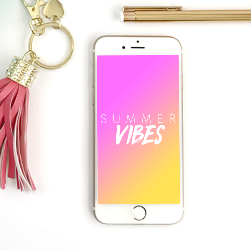 SUMMER VIBESPHONE WALLPAPER - THIS FUN WALLPAPER WILL BRIGHTEN UP YOUR PHONE WITH VIBRANT SUMMER COLORS
