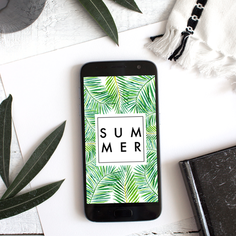 SUMMER PHONE WALLPAPER - THIS TROPICAL SUMMER THEMED WALLPAPER WILL MAKE YOU FEEL LIKE YOU'RE IN PARADISE