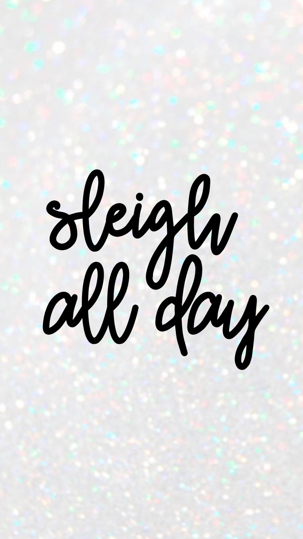 SLEIGH ALL DAY WALLPAPER -