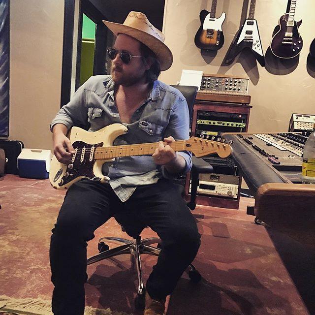@johndavidkent working on guitars for the new @therealcoltononeill album. More guitars & bass today  #recording #fenderstrat