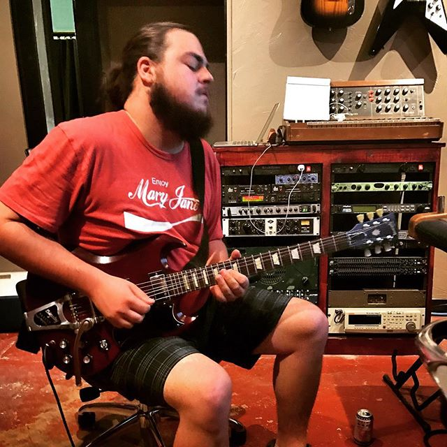 #gibson SG through a Marshall is really killing it on the lead parts  #recording