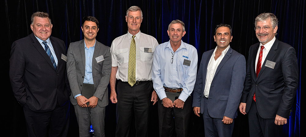 Photo: From left to right – Craig Kelly, Michael Saleh, David Cohen, Warwick Payten, Mayor Cr Pesce and Adi Paterson