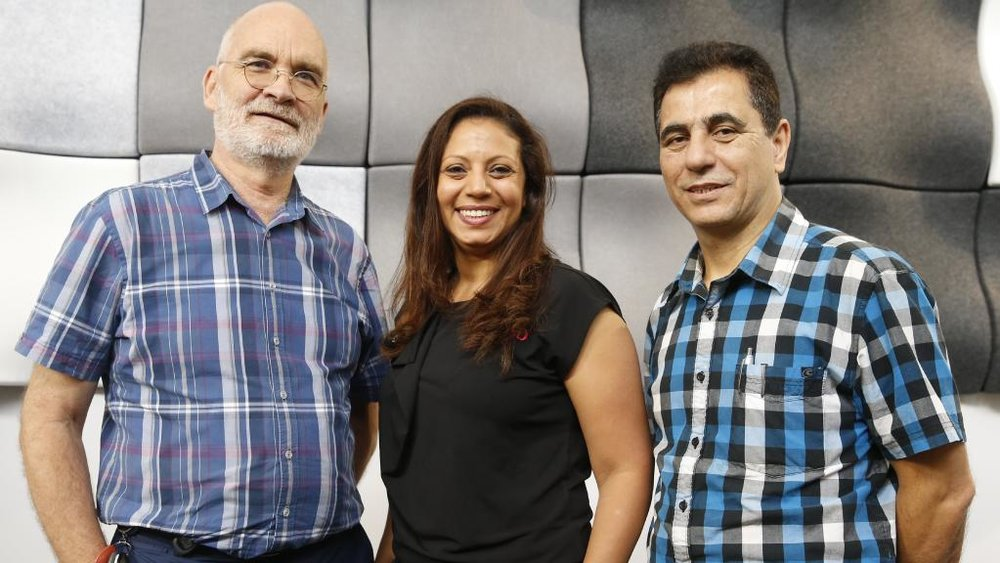 Psychologist Steve Bailey with Mental Health Workers Mariham Bast and Changiz Iranpour.