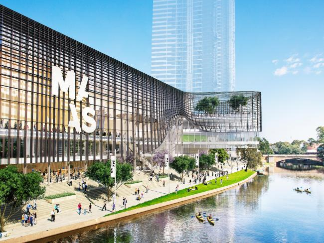 An artist's impression of the proposed Powerhouse Museum to be built in Parramatta.