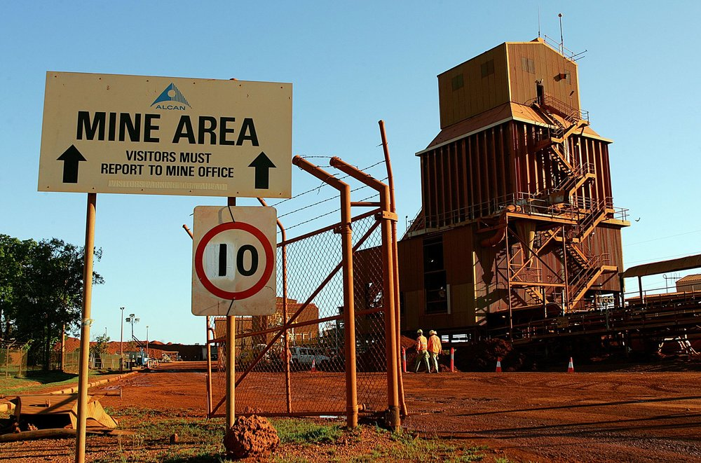The Gove bauxite mine and alumina processing plant in the Northern Territory. Photograph: Torsten Blackwood/AFP/Getty Images