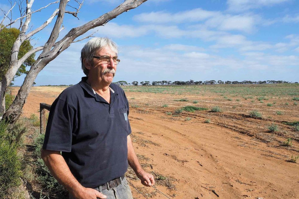 Jeff Baldock has nominated his property in Kimba, South Australia, as a site for the planned national radioactive waste management facility. Photograph: Max Opray for the Guardian
