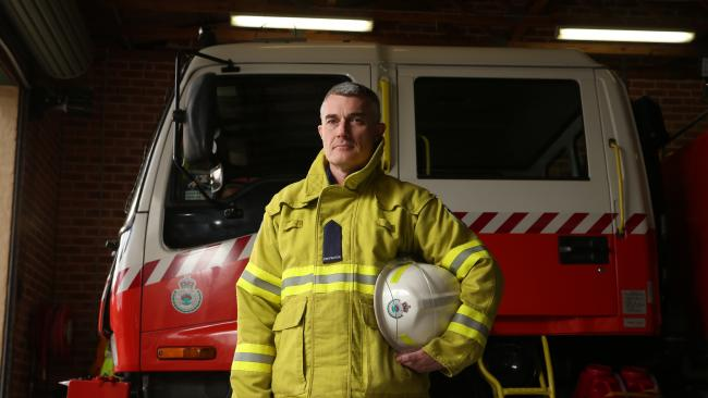 David Wynd at Regentville Rural Fire Brigade. Picture: David Swift