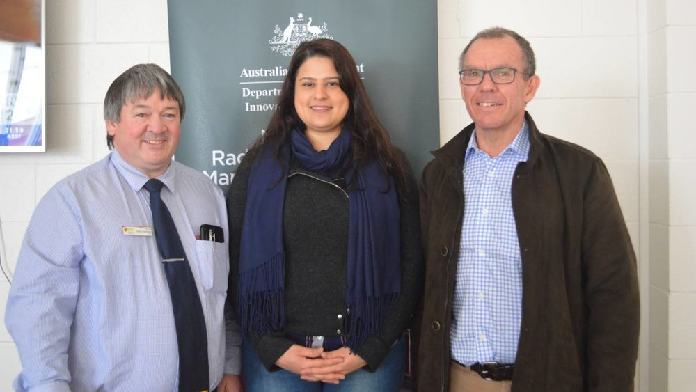 NEW ROLE: Kimba District Council mayor Dean Johnson, community liaison officer Maree Barford and National Radioactive Waste Management Facility Taskforce general manager Bruce McCleary.