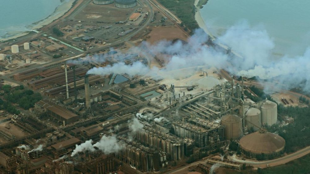 Rio Tinto's alumina refinery on the Gove Peninsula, when it was still operating.