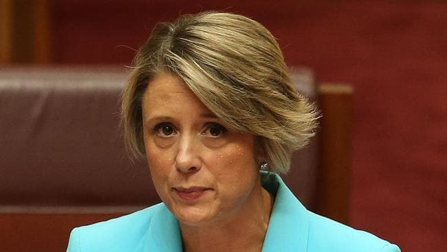 Kristina Keneally during her maiden speech in the Senate chamber at Parliament House on Tuesday. Photo: Kym Smith