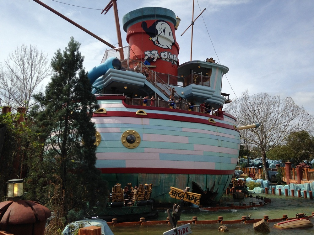 Me Ship, The Olive in Toon Lagoon.