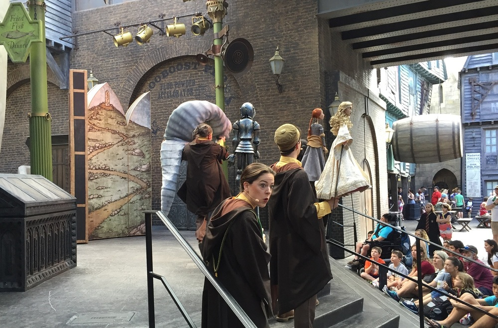 W.A.D.A. performing The Fountain of Fair Fortune in Diagon Alley.