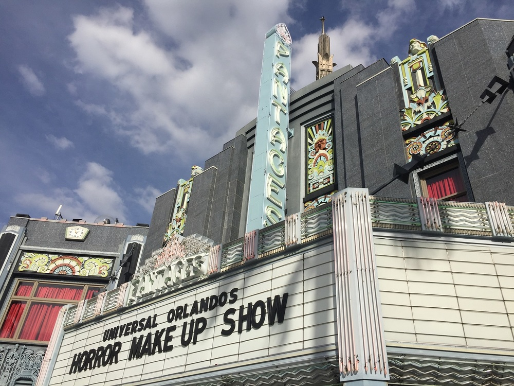 Universal Orlando's Horror Make-Up Show is located in Pantages Theatre.