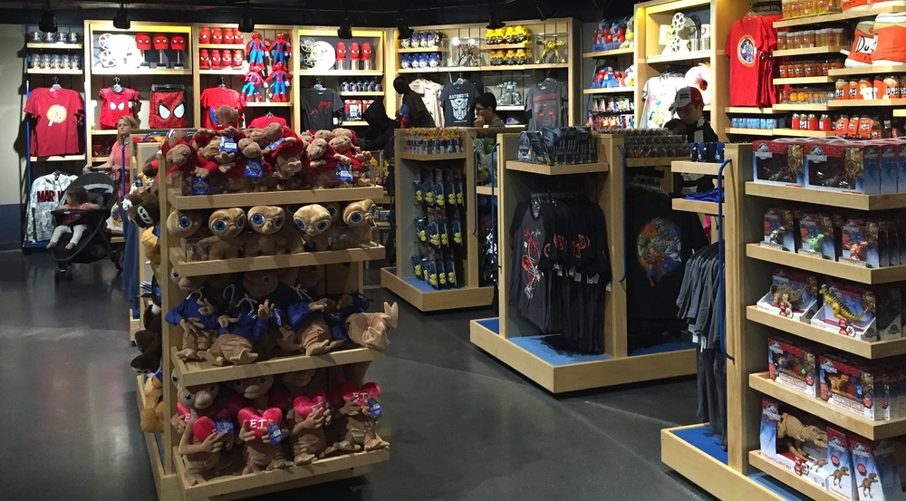 A small sampling of merchandise at the Universal Studios Store in CityWalk Orlando.