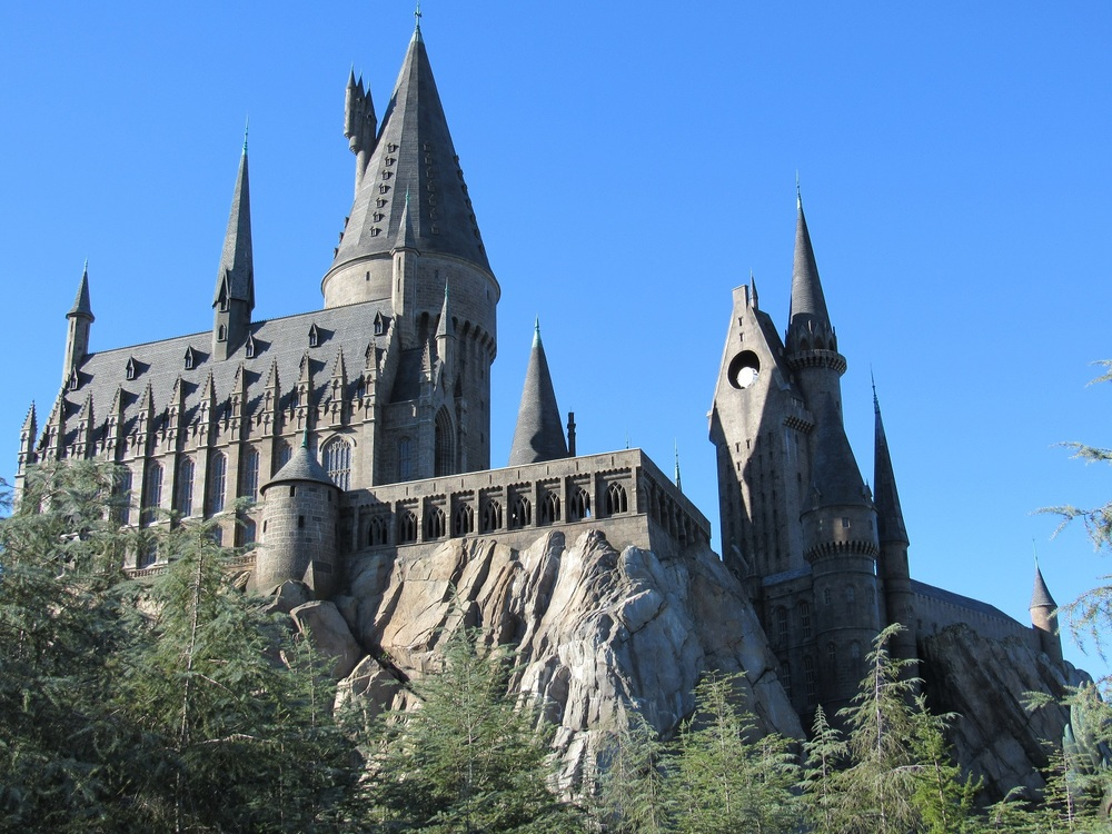 The Harry Potter and the Forbidden Journey ride is located inside Hogwarts Castle.