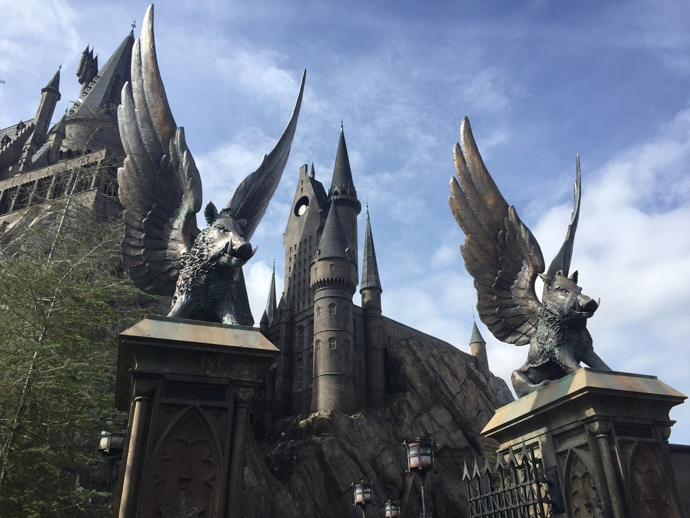 To ride Harry Potter and the Forbidden Journey, you must enter the gates of Hogwarts Castle.