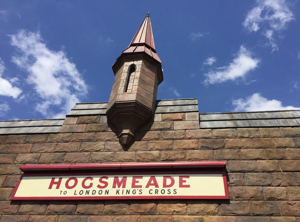The Hogsmeade Station marquee.