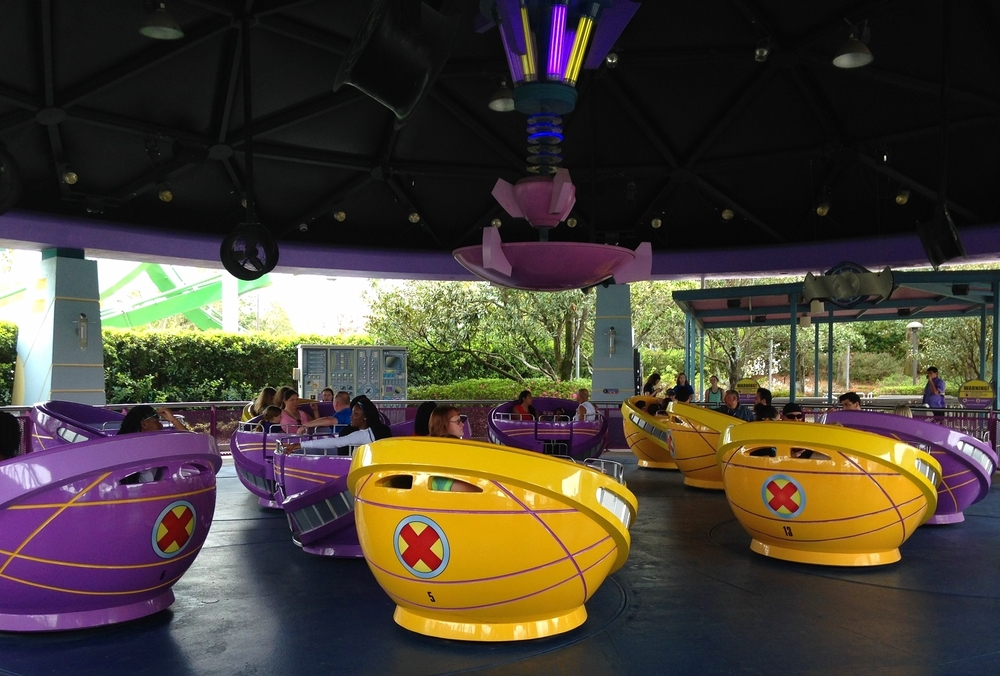 Storm Force Accelatron ride vehicles.