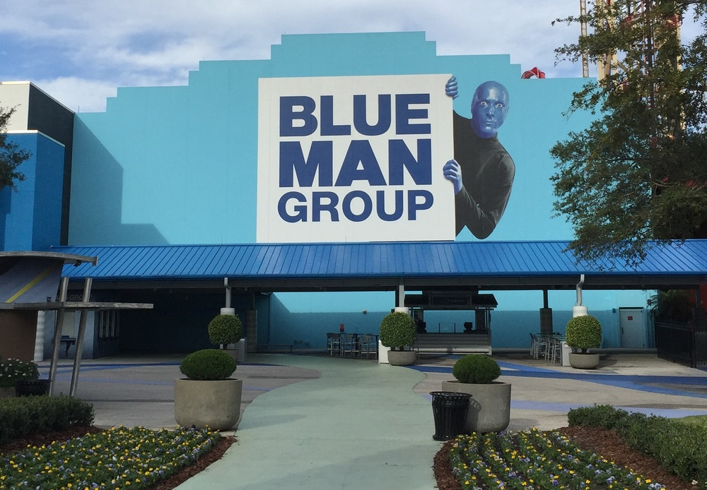 The Blue Man Group Theatre.