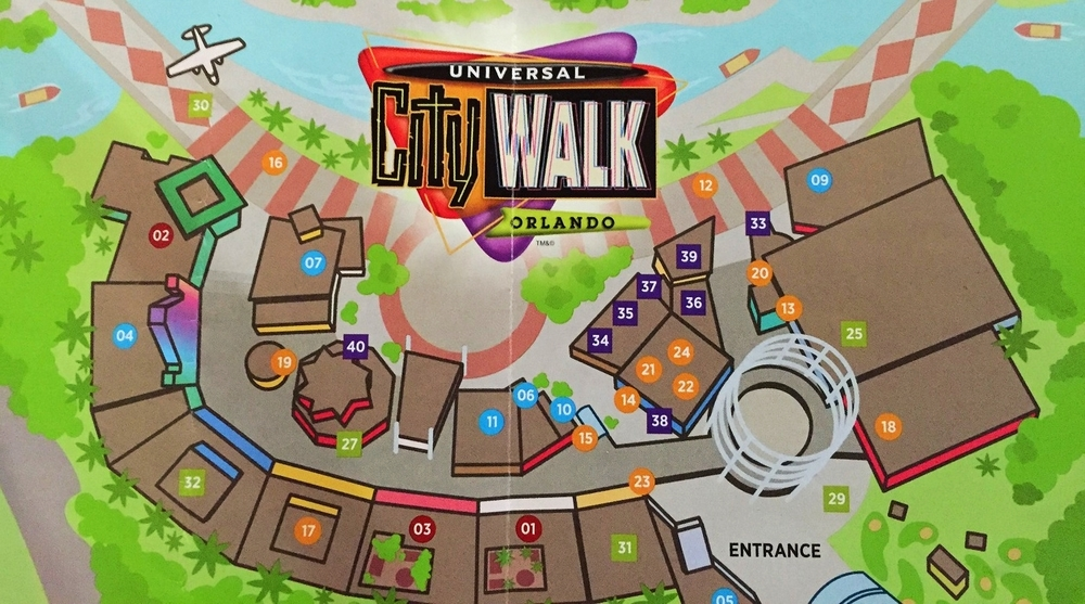 Find number 32 on this CityWalk map to see the location of The Groove.
