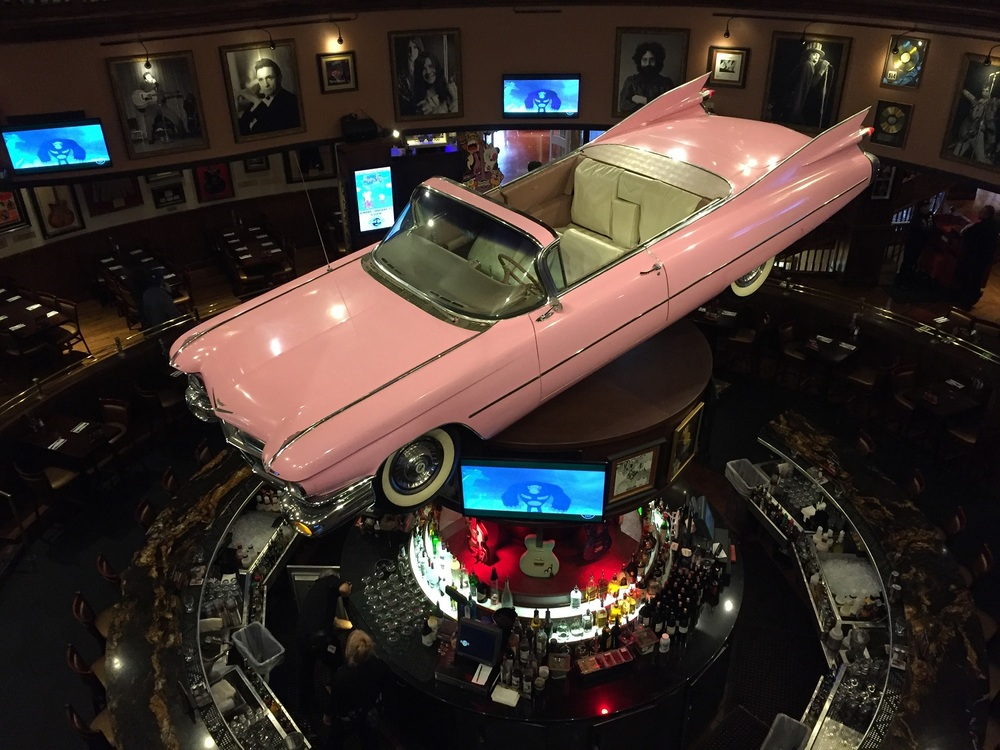 The Pink Cadillac Bar in the Hard Rock Cafe.