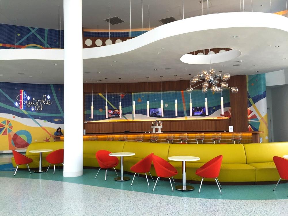 Cabana Bay's Swizzle Lounge has a fun, retro drink menu.