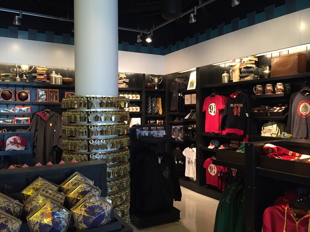 Harry Potter Corner in Universal Gift Shop at Cabana Bay