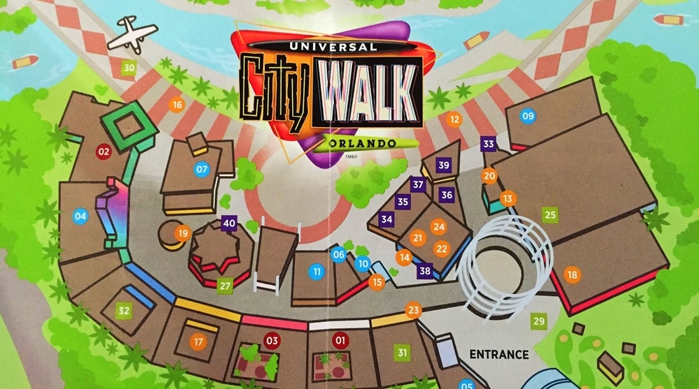 The Cowfish is represented by the number 06 on this CityWalk map.