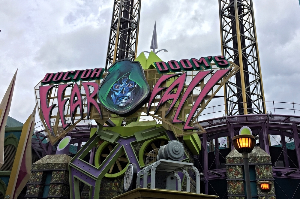 Doctor Doom's Fearfall Exterior Sign