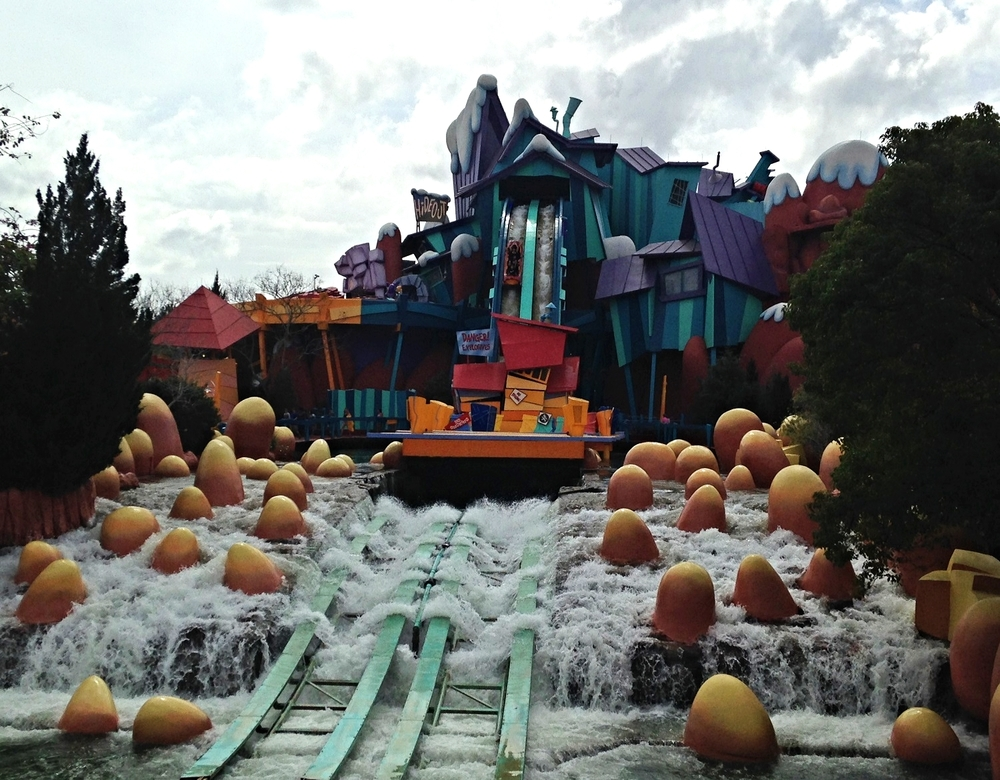 The Big Drop on Dudley Do-Right's Ripsaw Falls